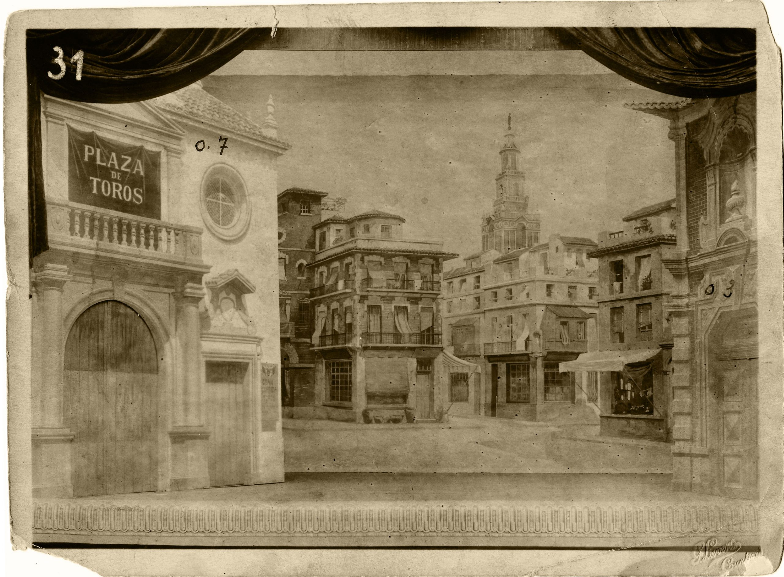 Scenery, Acts I and IV (3), Stadsschouwburg / Théâtre communal, Courtray, 1921