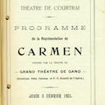 Programme - 1, Stadsschouwburg / Théâtre communal, Courtray, 1921