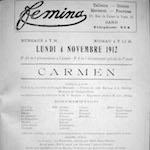 Announcement Poster, Grand Théâtre, Ghent, 1912