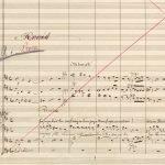 Excerpt from MS score, Vienna 1875.