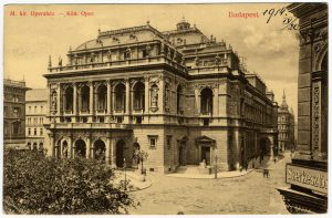 The Royal Hungarian Opera, 1910s (photographer Károly Divald), with permission from the archives of the Hungarian State Opera