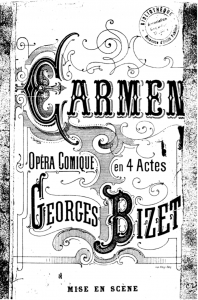 Figure 1. Cover of the reproduced first mise en scène for Carmen